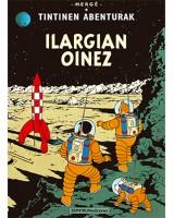 Tintin ilargian oinez komikia - Hergé - Karrikiri Euskal Denda